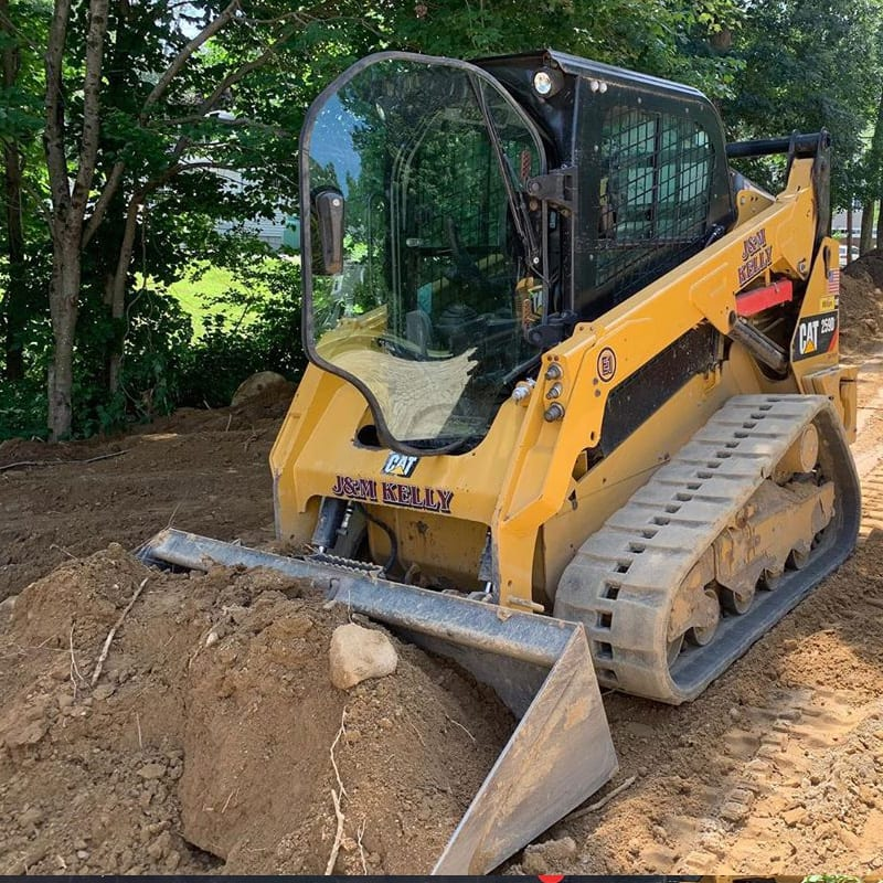 Landscape Excavation job near Walpole MA